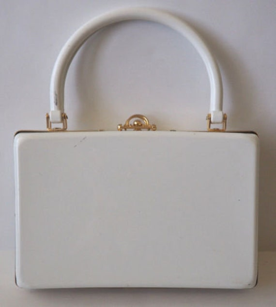 White Hard Shell Box Bag