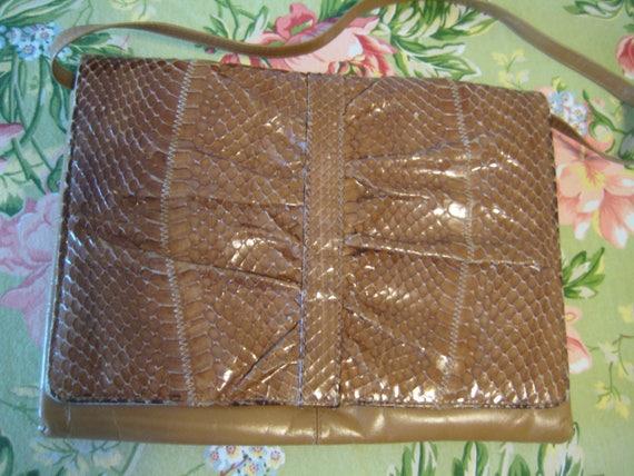 Eel Skin Shoulder Bag by Koret