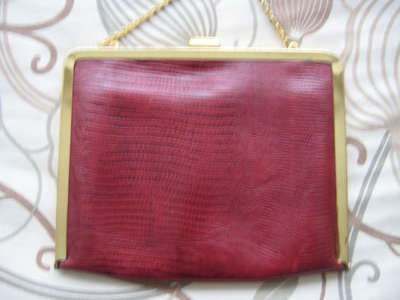 Perfect Red Leather Evening Bag