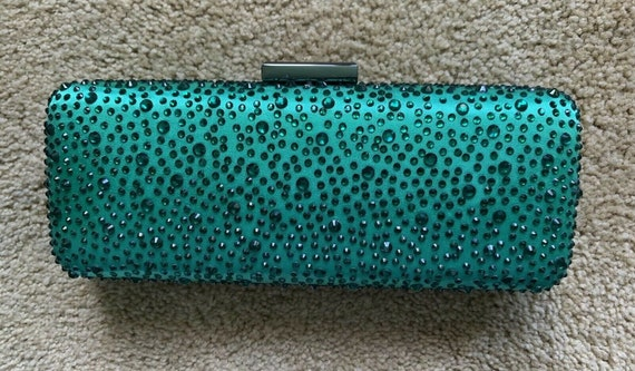 Emerald Green Clutch with Rhinestones from Nordstrom's