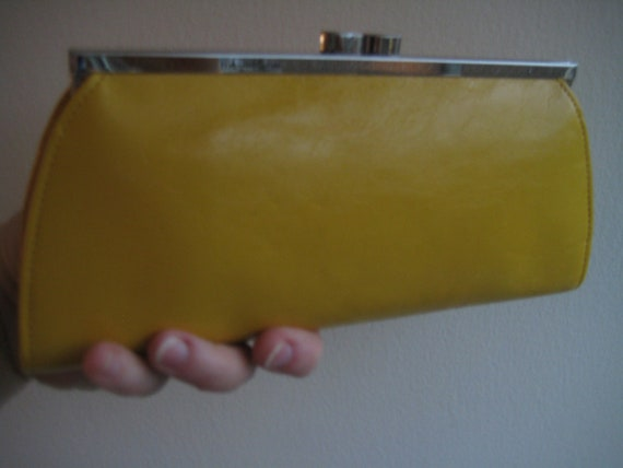 Yellow Leather Wallet by Monsac