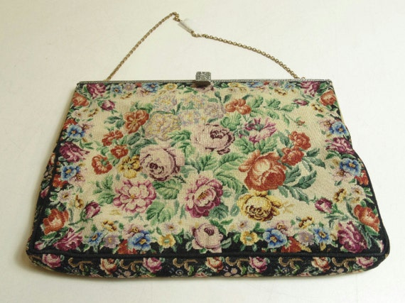 Special VTG Delil Floral Handbag from the 40's