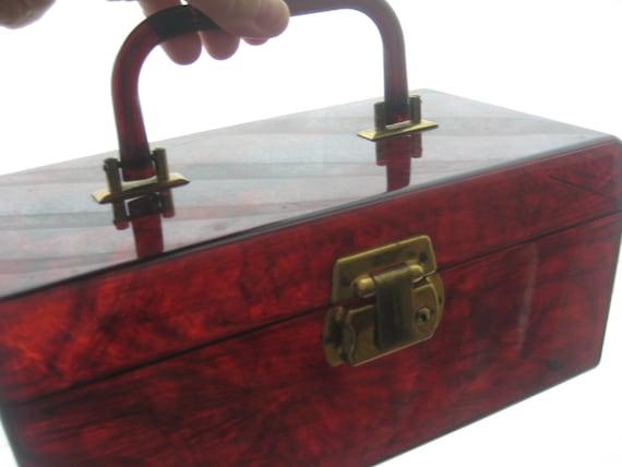 "Lucite ""Toolbox"" Handbag"