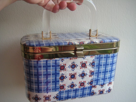 Most Adorable Blue Metal Box Bag!