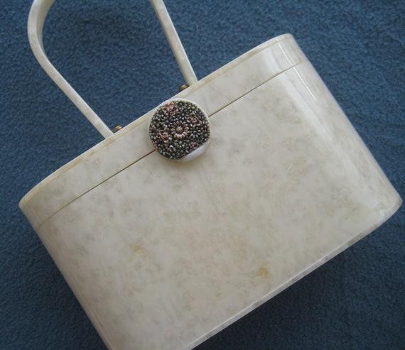 VTG White Wilardy Lucite Bag