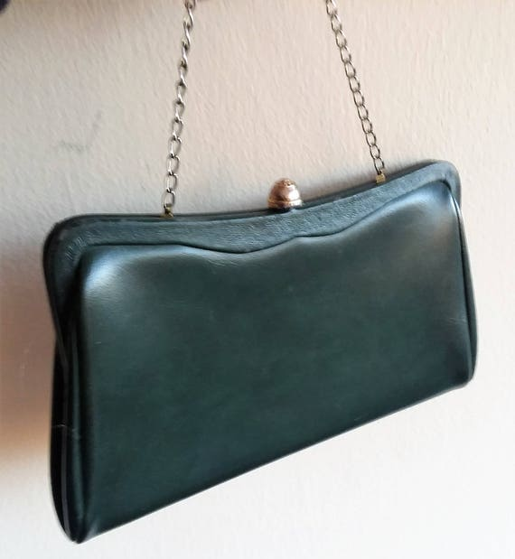 Forest Green Leather Bag
