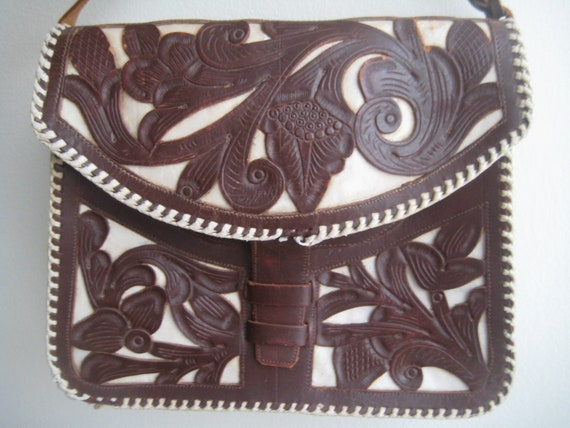 Hand Tooled Leather Shoulder Bag