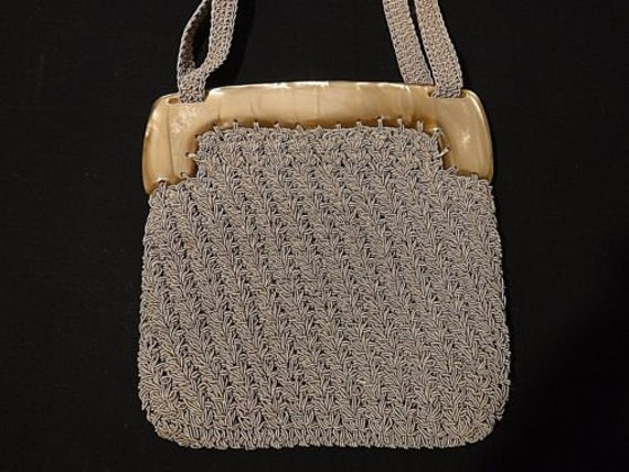 Super Cute Lucite and Crochet Bag