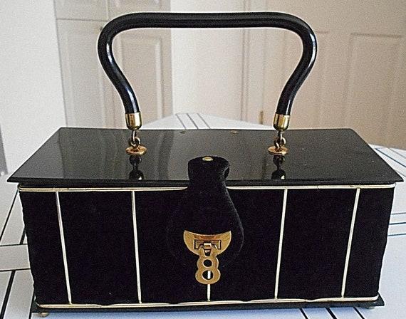 Black Velvet Dorset-Rex Box Bag