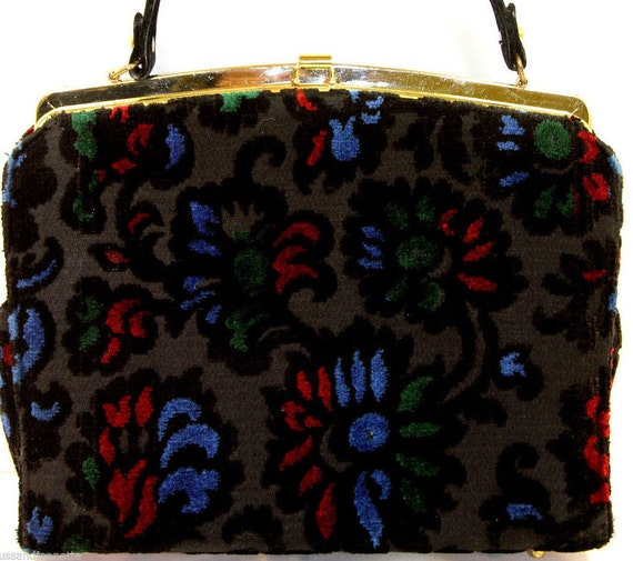 VTG Velveteen Kelly Bag from Kadin USA.
