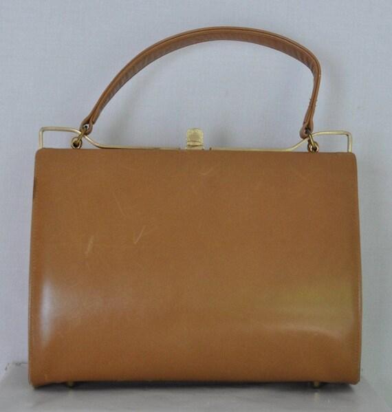 VTG Tan Kelly Bag by Stylecraft Miami