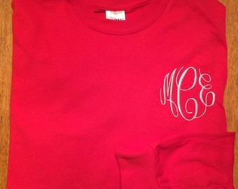 Monogrammed long sleeve T-shirt