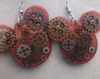 Steampunk Mickey Earrings