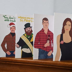 Letterkenny-themed How are ya now note card