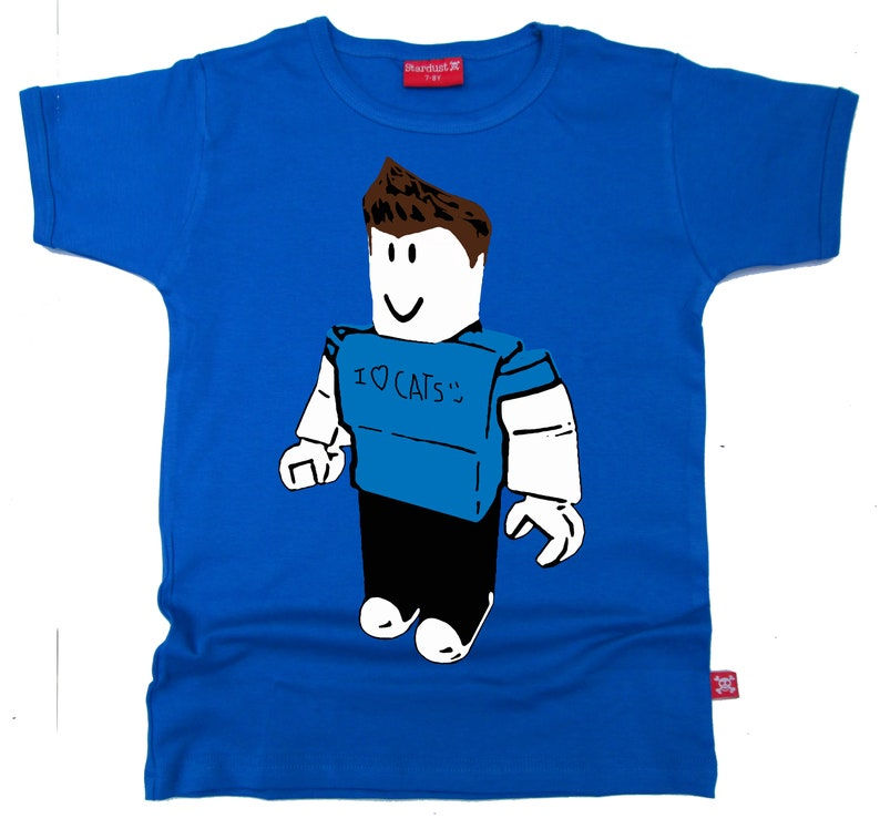 STARDUST ETHICAL ROBLOX KIDS CHILDRENS GAMING WITH KEV T-SHIRT BLACK