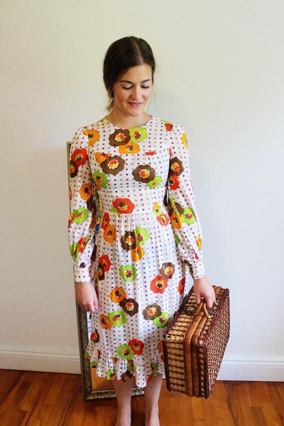 60s mod flower dress