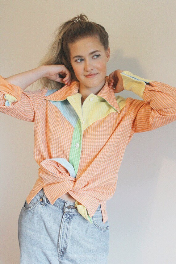 70s groovy top | funky neon bold retro THAT 70s SH