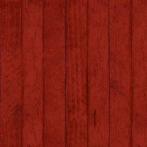 Snow Much Fun Red Barnwood Fabric From Clothworks By The
