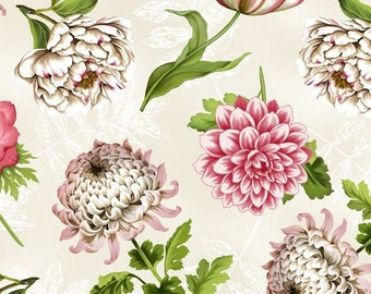 Tivoli Cream Floral from Wilmington Prints by the yard