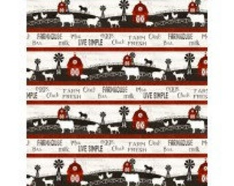 Homestead Farm Border Stripe from Wilmington by the yard