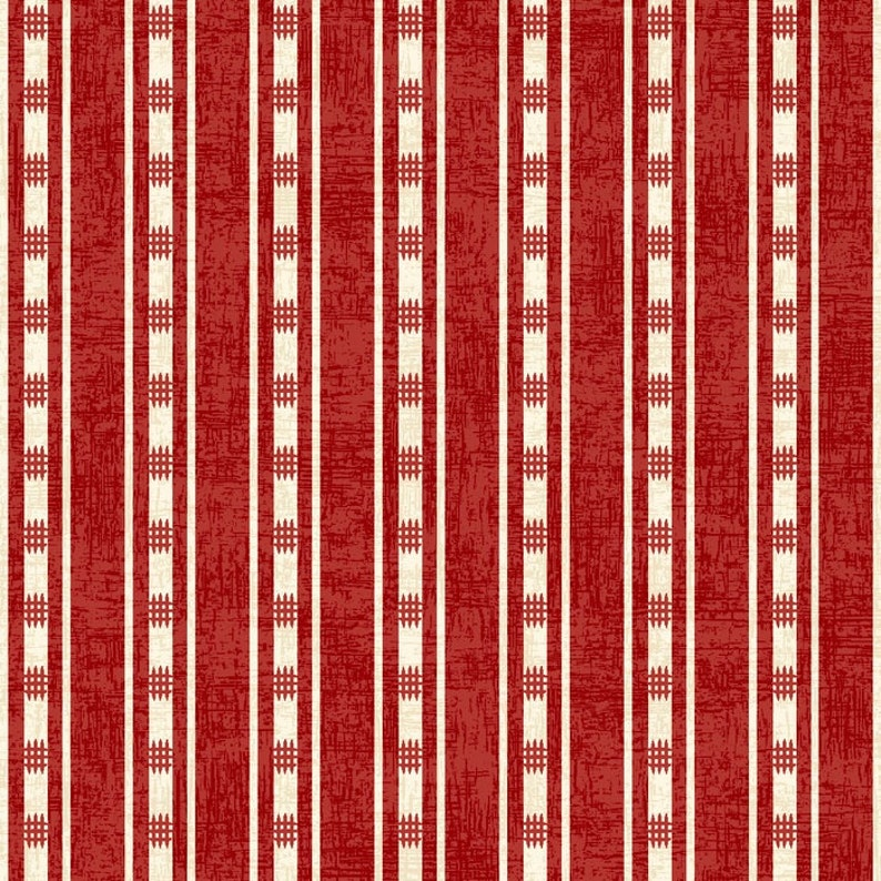 American Folk Red Stripe from Studio E by the yard