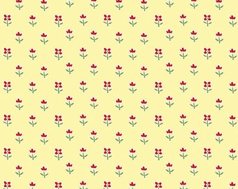 Simply Chic Floret Butter 3816-30 from Benartex by the yard