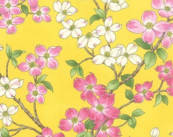 Dogwood Trail II Yellow Floral 33030-16 from Moda by the yard