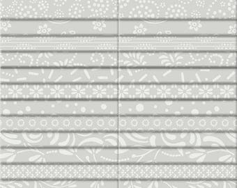 """Silver Lining 2.5"""" Strip Set from Wilmington Prints by the pack"""