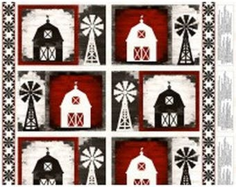 Homestead Farm Placemat Panel from Wilmington by the panel