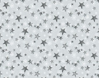 Friendly Gathering Gray Stars 96423-991 from Wilmington Prints by the yard