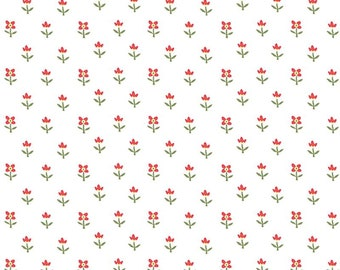Simply Chic White Floral 30's Reproduction 3816-09 from Benartex by the yard