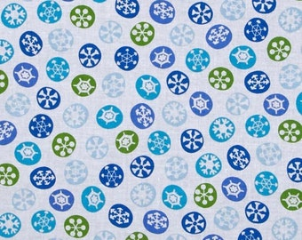 Silly Snowman White Snowflake 23959Z from Quilting Treasures by the yard