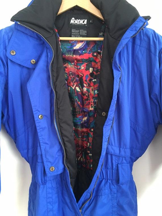 Vtg Nordica Ski Suit / Jump Suit Blue / Snow Suit