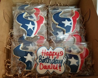 Houston Texans football sugar Cookies