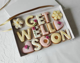 Get Well Soon Cookie Gift Box For Her
