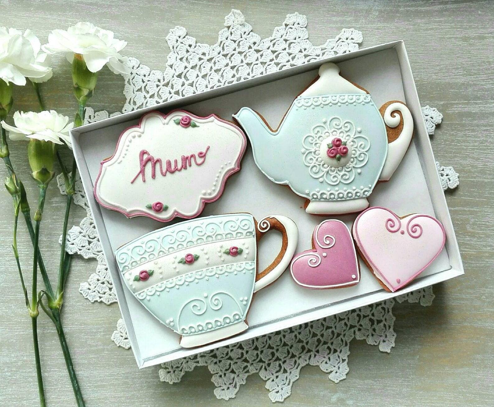 Mothers Day Tea Set Cookies