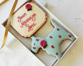 Personalised Scottie Cookie Gift Box - Gift for Dog Lovers - Birthday Gift - Thank you Gift - Get well gift - Dog cookies