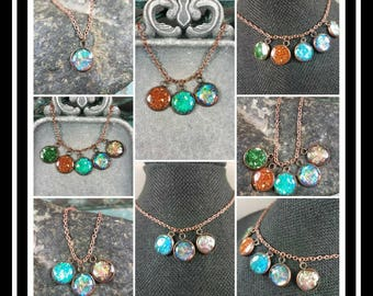 Memorial Ash Copper NecklaceCremation Pendant Pet Memorial Jewelry Memorial JewelryOver 80 Color OptionsCharm Necklace