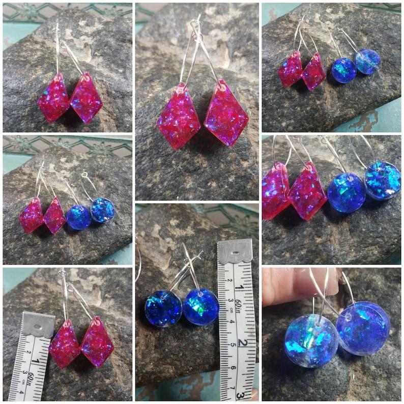 Memorial Ash EarringsMemorial Hoop EarringsCremation EarringsAsh Earrings64 Color Options