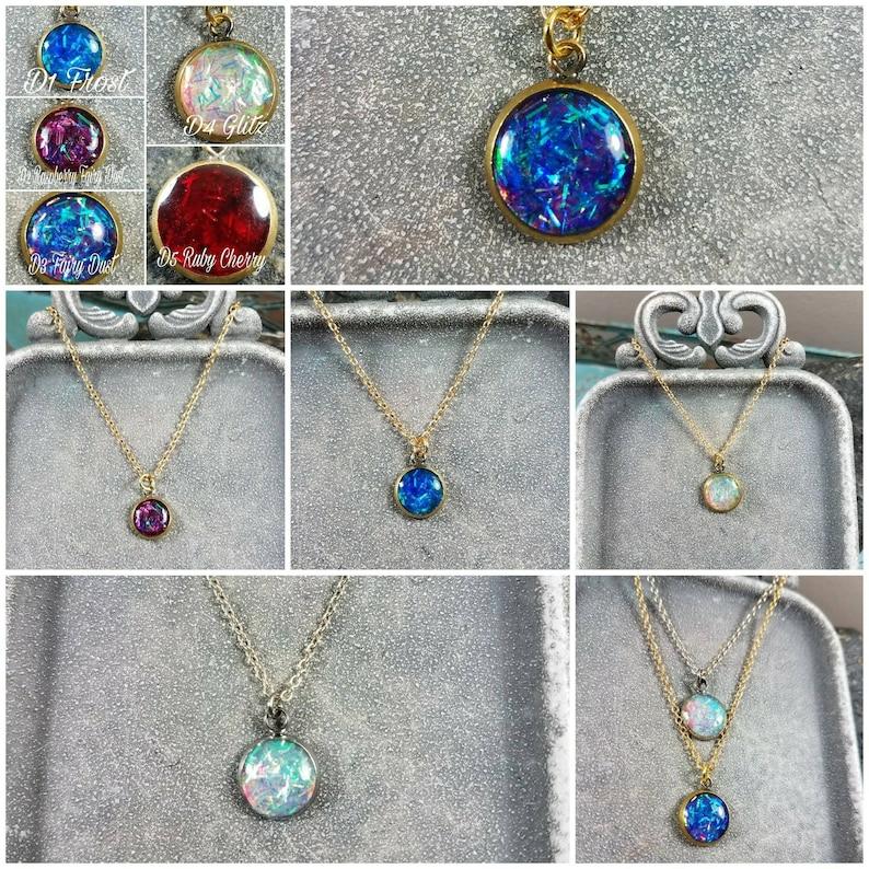Memorial Ash Pendant Necklace Memorial Jewelry Ash NecklacePet MemorialCremation JewelryMore than 90+Color Options