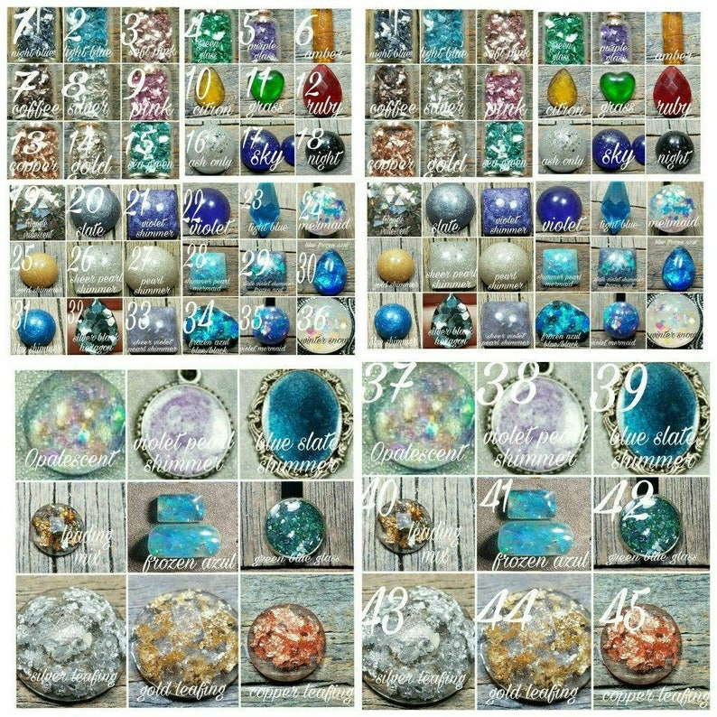 Memorial Ash Crystal Claw Wrap RingCremation Jewelry Ash Crystal Greiving Necklace64 Color Options