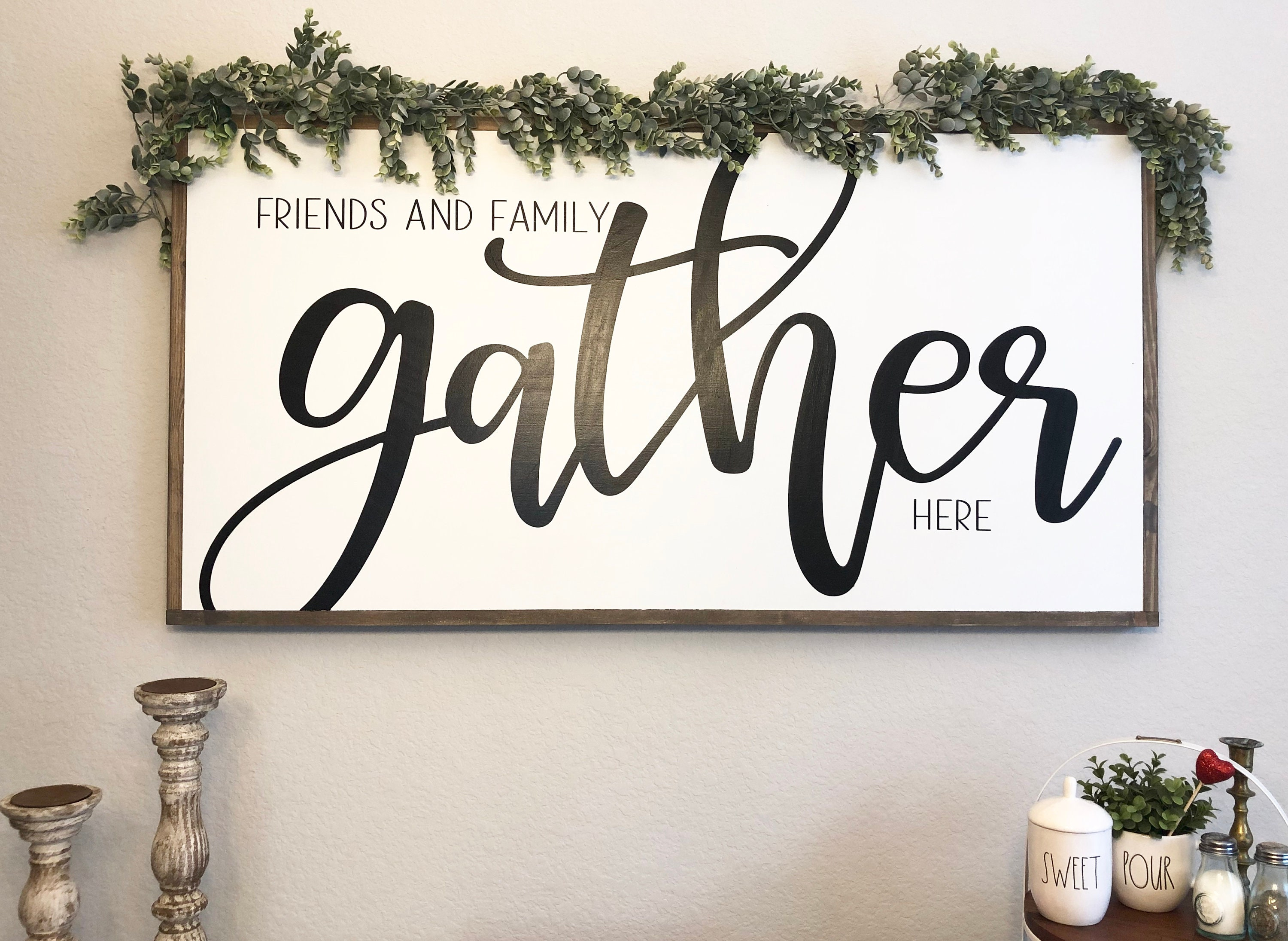 Gather Sign Dining Room Signs Farmhouse, Dining Room Signs
