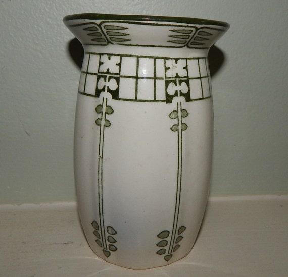 Art Deco Royal Doulton Vase Caryl Pattern Etsy