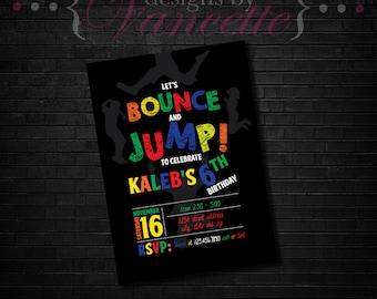Bouncy House Invite, Bounce House Invitation, Jump Invite, Jump Invitation, Jumping Invite, Jumping Invitation, Bounce House Invite