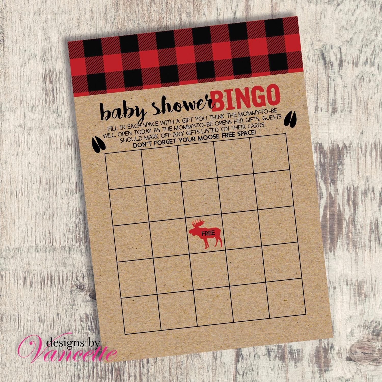9a37dded0752 Lumberjack Bingo Lumberjack Baby Shower Bingo Baby Shower