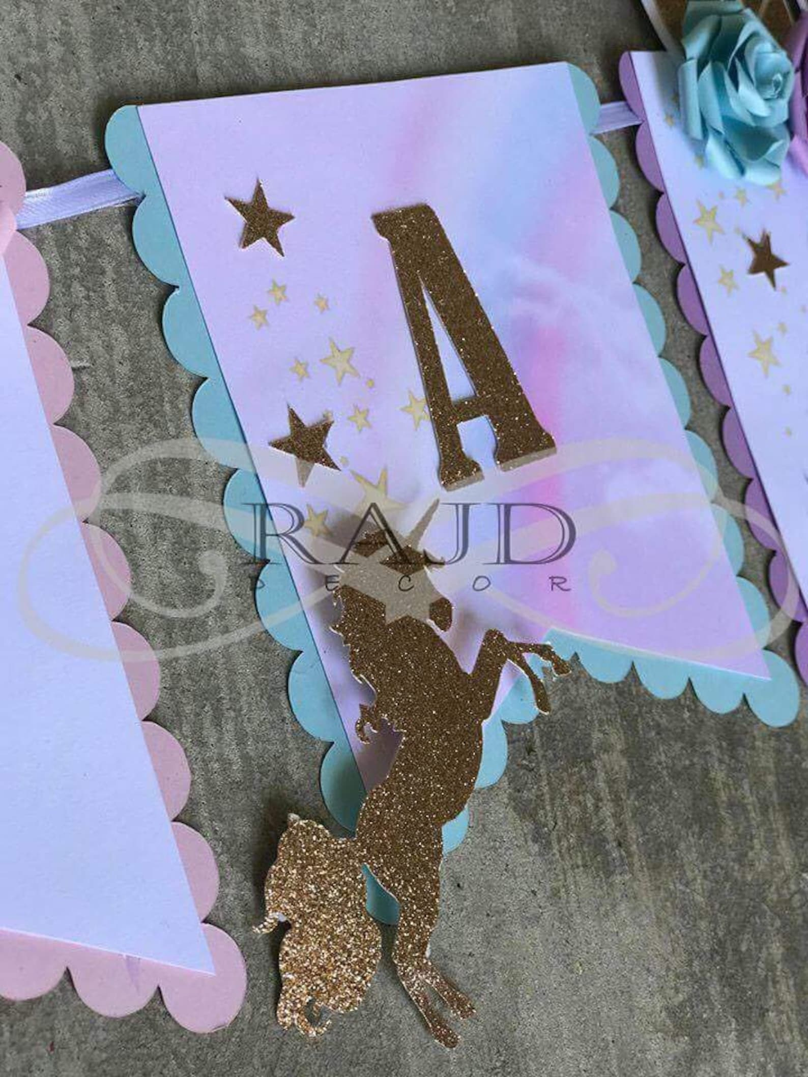 Unicorn Pennant Banners Page Three