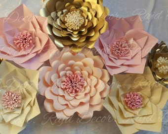 Paper Flowers just perfect for any type of Decor.
