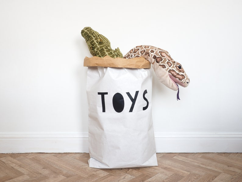 TOYS   White or Brown Strong Paper Storage Toy Bag image 0