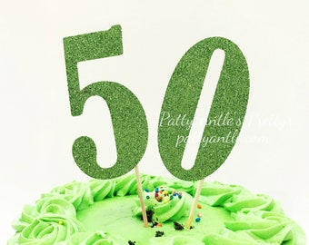 Glitter Happy Birthday Numbers Cake Topper First Toppers Number One
