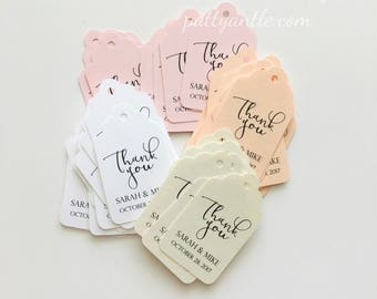Wedding Thank You Tags, Personalized Thank You Tags, Wedding Tags, Wedding Thank You Tags, Baby Shower Tags, Anniversary Tags, 25 Ct.